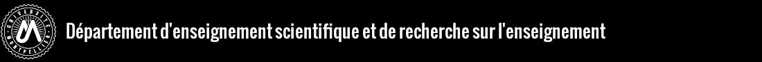 Département d'enseignement scientifique et de recherche sur l'enseignement Logo